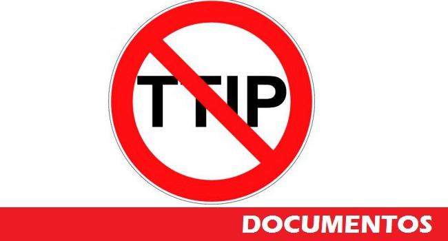 NO AL TTIP documentos