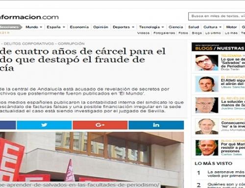 UGT pide cuatro años de cárcel para el empleado que destapó el fraude de Andalucía