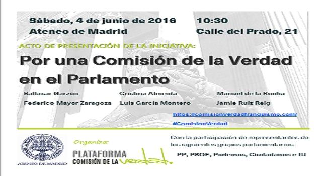 Acto presentación de la Iniciativa por una Comisión de la VERDAD