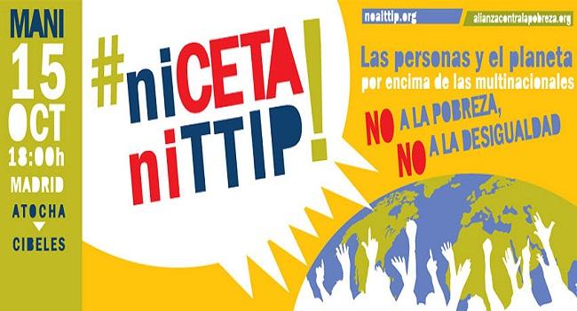 Mani 15 octubre #ni CETA ni TTIP
