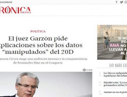 """El juez Garzón pide explicaciones sobre los datos """"manipulados"""" del 20D"""