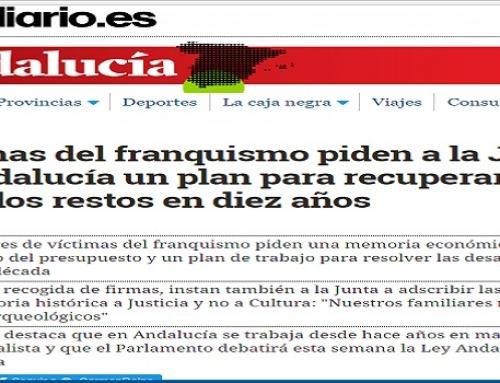 Víctimas del franquismo piden a la Junta de Andalucía un plan para recuperar todos los restos en diez años