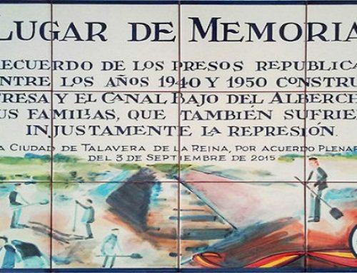 El Ayuntamiento de Talavera veta una placa en memoria de los presos políticos del franquismo
