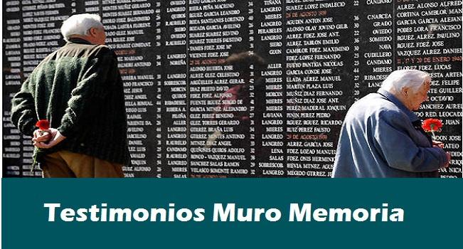 Testimonio muro de la memoria