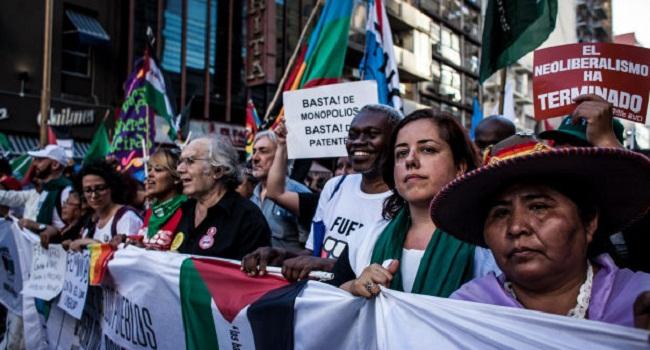 """Declaración final de la Cumbre de los Pueblos """"Fuera OMC, construyendo soberanía"""""""